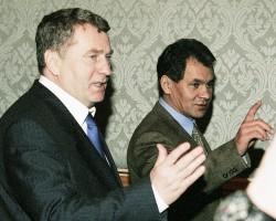 Владимир Жириновский, министр обороны России Сергей Шойгу