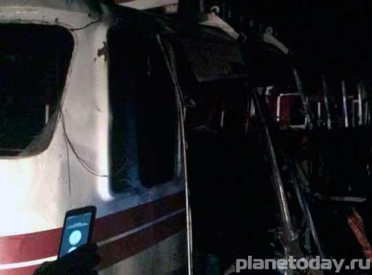 В Горловке на мине подорвался автобус. Есть жертвы