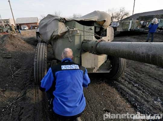 ОБСЕ констатировала контроль ополченцев над Широкино