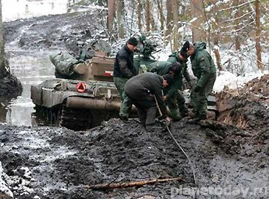 Польские танки грязи боятся