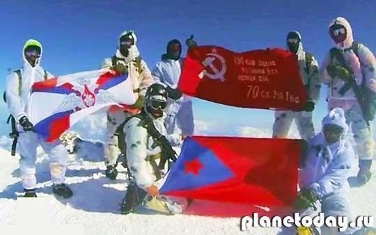 День Победы на горе Эльбрус