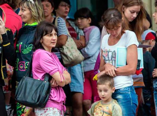 Украину за две недели покинули 20 тысяч граждан