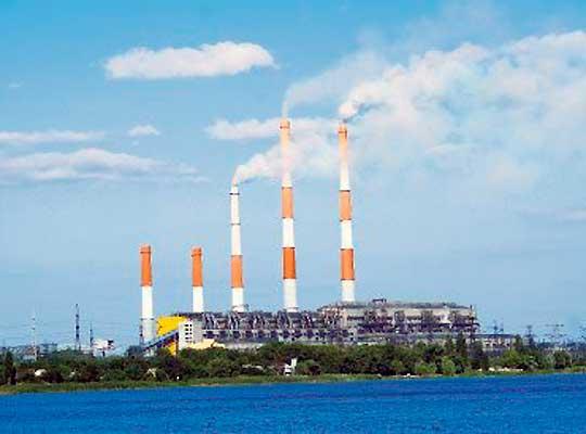 Работа Змиевской ТЭС на Украине остановлена