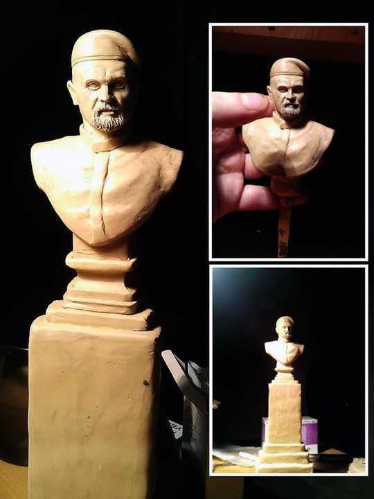 Скульпторы представили варианты памятника Алексею Мозговому