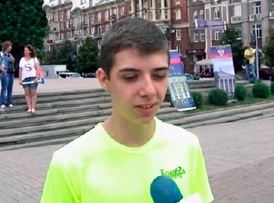 """Детский флешмоб """"Донбасс говорит по-русски"""""""