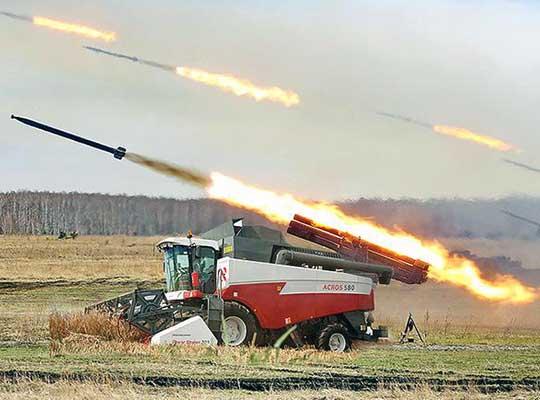 Бурятско-алтайские десантники идут на помощь на комбайнах и зерновозах