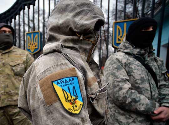 Укрофашисты разных мастей лупят друг друга почем зря