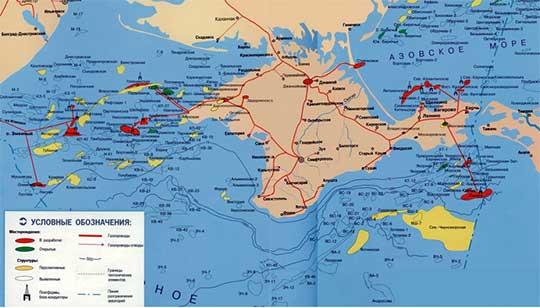 Черноморские газовые месторождения