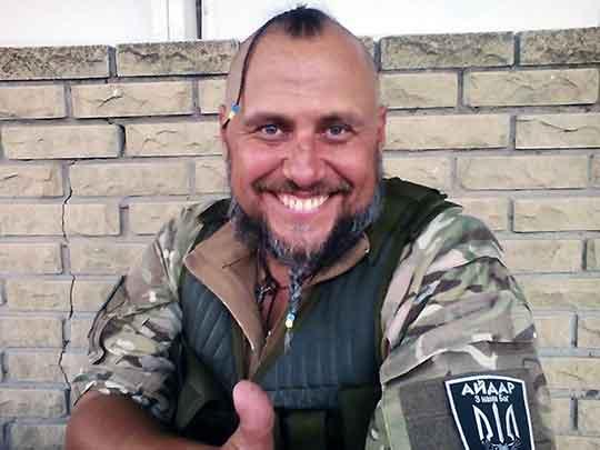 Офицер батальона «Айдар» Николай Греков