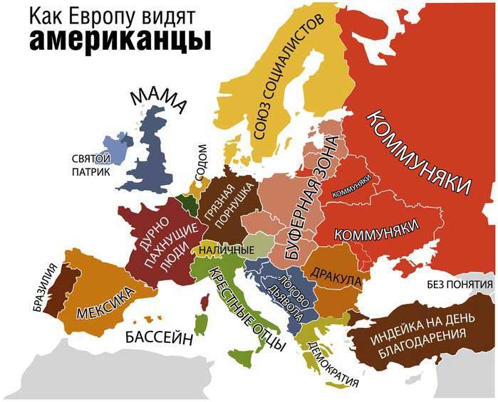 Как Европу видят американцы