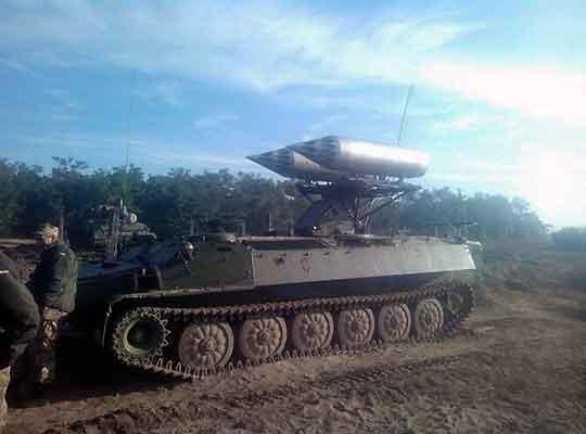 Сухопутные НУРСы армии хунты