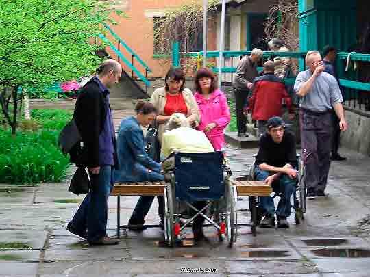 Инвалиды Луганска