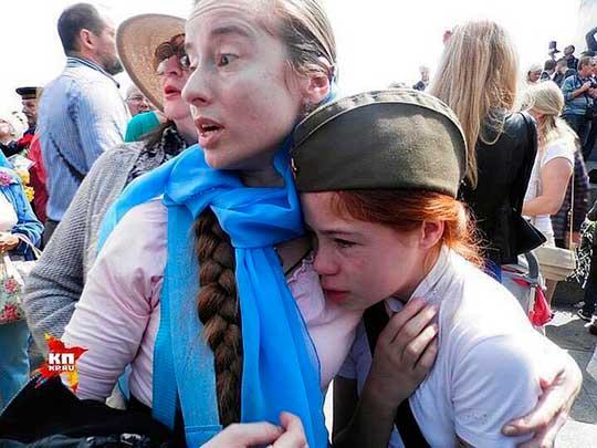 Херои АТО 9 мая победили 9-летнюю девочку в Киеве