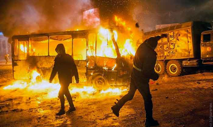 В Киеве вспыхнул русский бунт (видео)
